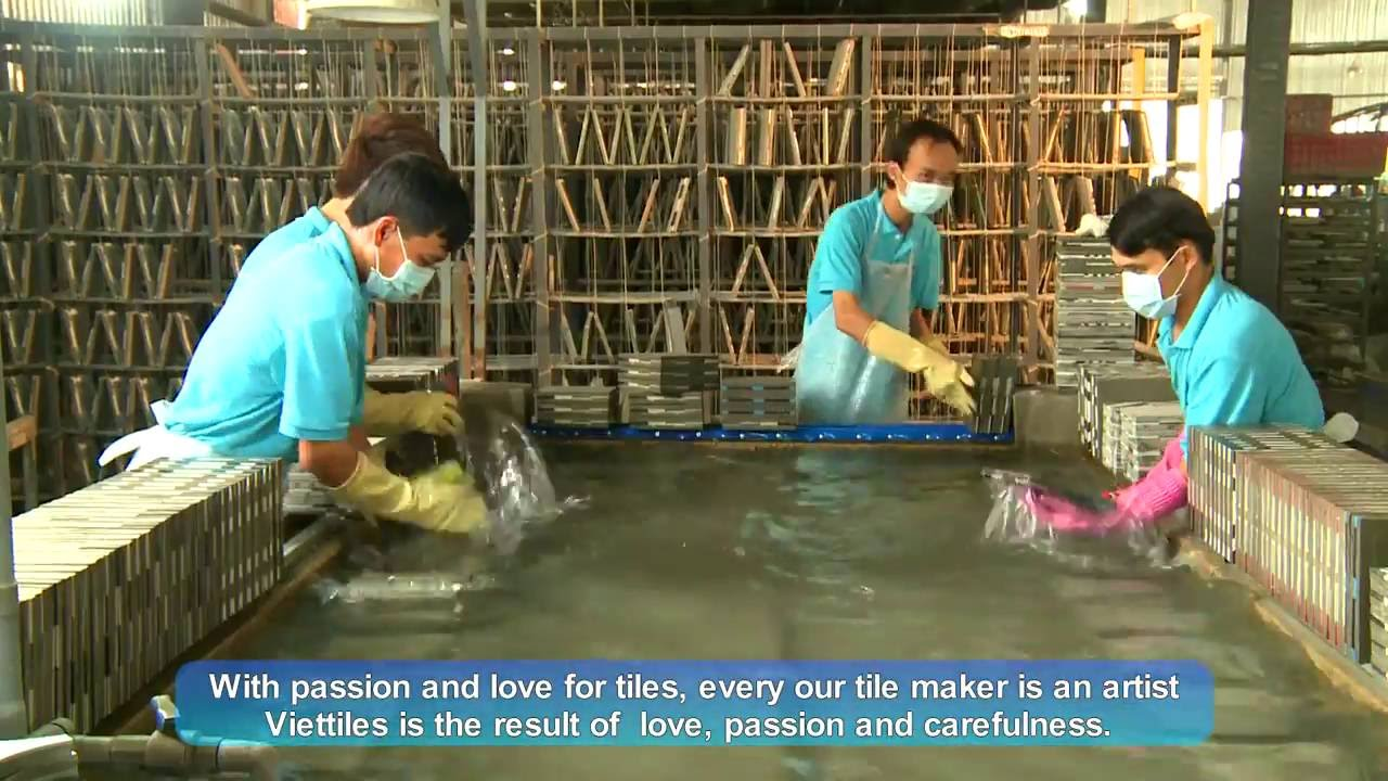 Cement tile produced in Vietnam - Handmade by Viettiles - YouTube