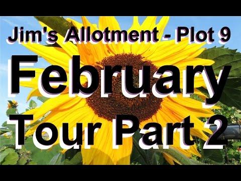Jim's Allotment - Plot 9 - February Tour Part 2 - Organic Vegetables - Fruit Trees & Clay