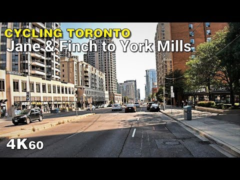 Cycling Toronto - Jane & Finch to York Mills in North York [4K60]