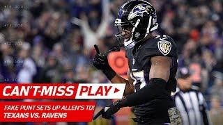 Ravens Fake Punt Pass Sets Up Allen's Powerful TD Blast! | Can't-Miss Play | NFL Wk 12 Highlights