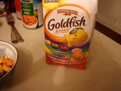 Goldfish Colored Snacks
