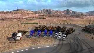 Открытый Конвой от MEGA TRANS в American Truck Simulator