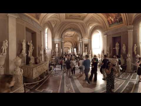 360 video: Inside Musei Vaticani, Rome, Italy