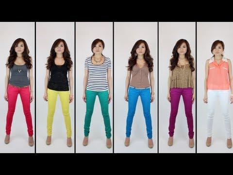 Color Jeans Symphony | Rainbow Color Denim | Miss Loiue