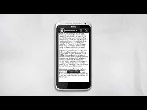 HTC ONE X - Ajuste de texto para una lectura conveniente.