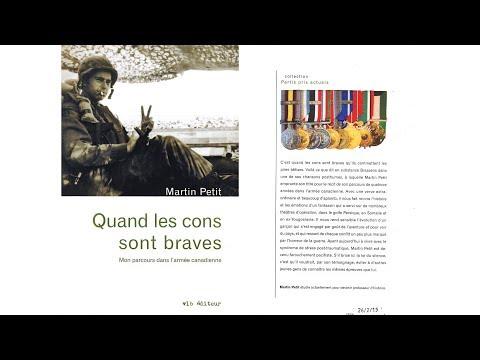 Conférence par l'ancien soldat de l'armée canadienne, Martin Petit.