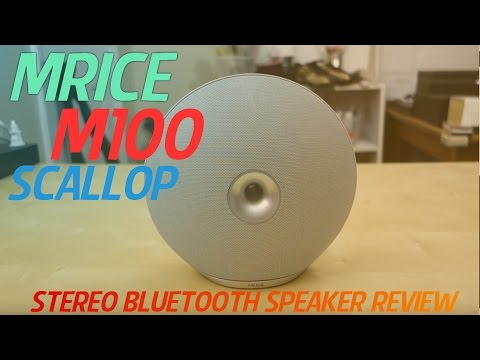 Mrice M100 Scallop Stereo Wireless Bluetooth Speaker REVIEW