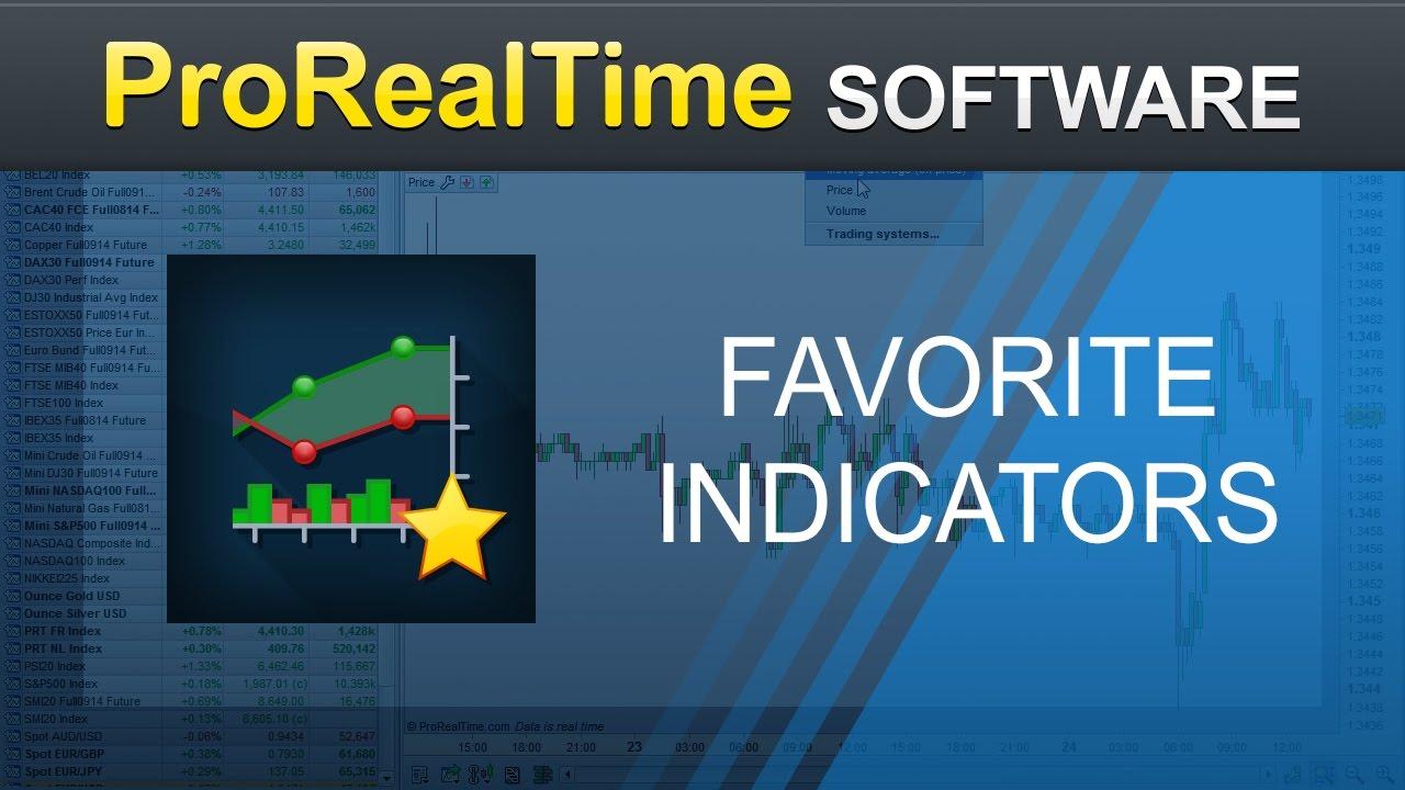Favorite indicators - ProRealTime