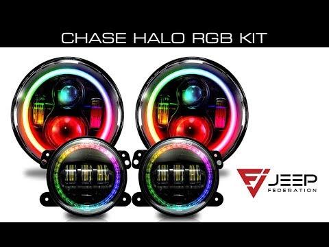 Jeep Federation Chase LED RGB Headlight / Foglight Combo