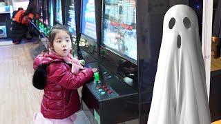 오락실이 무서워요!! 서은이의 귀신 나오는 오락실 타요 게임 야채 인형 Ghost Arcade
