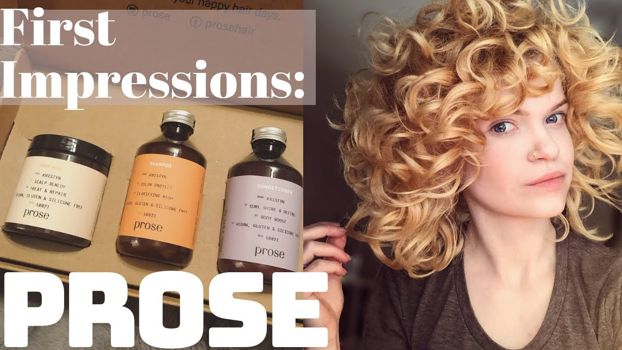 First Impressions Prose Custom Hair Care Curly Hair Youtube