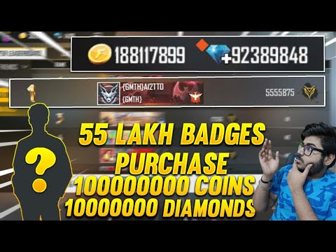 🔥55LAKH BADGES ACCOUNT| WORLD RICHEST FREE FIRE PLAYER| FREE FIRE 2020