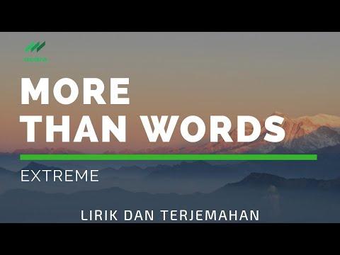 Terjemahan lirik More Than Words  Extreme