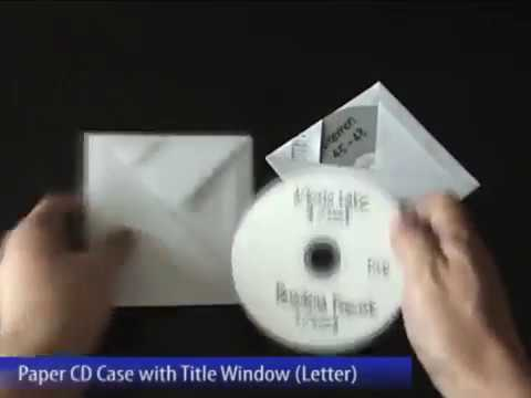 Easy paper CD CASE with TItle Window (Letter size)