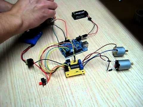 Arduino Hbridge Dc Motor Control Circuit Youtube