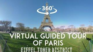 [360°/VR Video] Virtual guided tour of Paris : Eiffel tower District(English text below// Venez découvrir les alentours de la Tour Eiffel dans cette visite guidée virtuelle et immersive à 360° de Paris. Regardez autour de vous, ..., 2016-02-01T18:12:23.000Z)