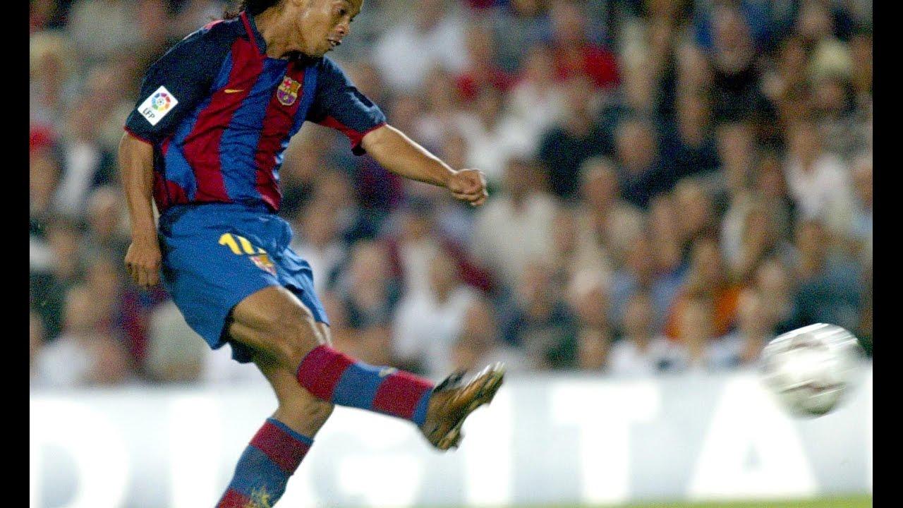 Ronaldinho Vs Sevilla First Goal Barcelona Youtube