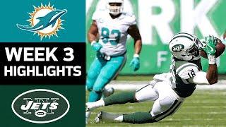 Dolphins vs. Jets | NFL Week 3 Game Highlights