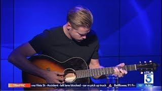 "Chord Overstreet Plays ""Hold On"" Live on Set"