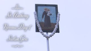 St. Anthony Novena Day -1, Siolim Church 1st June 2020