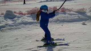 Горные лыжи. Обучение детей 6 лет 30.03.2018