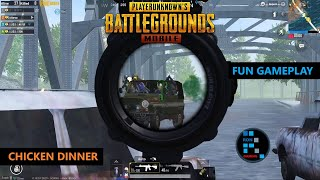 PUBG MOBILE | AMAZING BRIDGE CAMP FUN GAMEPLAY CHICKEN DINNER