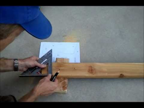 Cutting A Storage Shed Roof Rafter Birdsmouth Wmv You