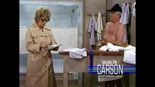 "Johnny Carson & Betty White in Funny Skit, Female Reporter in Locker Rooms, ""Tonight Show"" - 1978"