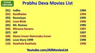 Prabhu Deva Movies List