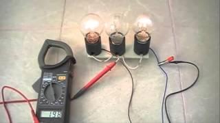 Загадка. Три разные лампы. Закон Ома на практике.