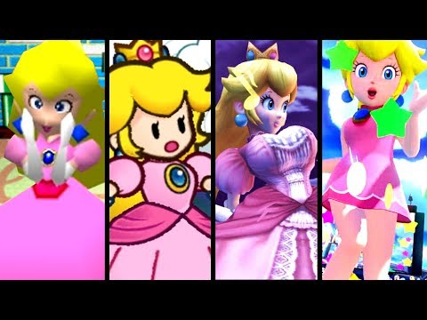 Super Mario Evolution of GIANTESS PEACH 2001-2015 (N64 to Wii U)