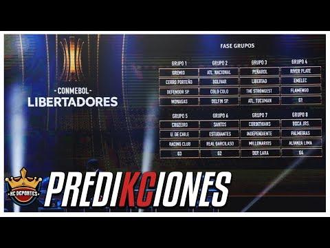 Predicciones Copa Libertadores 2018 (Fase de Grupos)