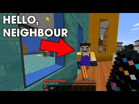 Thumbnail: WHAT IS HE HIDING? Hello Neighbour in Minecraft!