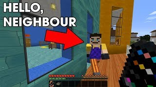 WHAT IS HE HIDING? Hello Neighbour in Minecraft!