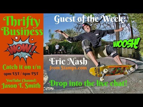 Thrifty Business Season 5 #7 Eric Nash Stamps.com USPS Changes & Ebay Shipping