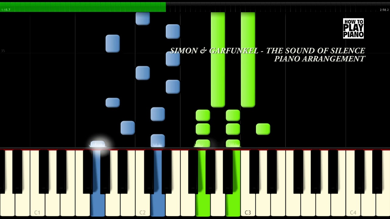 SIMON & GARFUNKEL - THE SOUND OF SILENCE - SYNTHESIA (PIANO COVER)