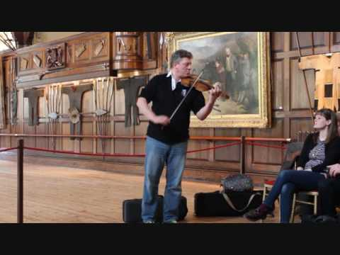 PAUL ANDERSON PLAYING  NIEL GOW'S FIDDLE IN  BLAIR CASTLE