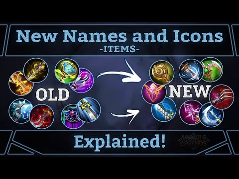 Mobile Legends: New Item Names and Icons Explained!