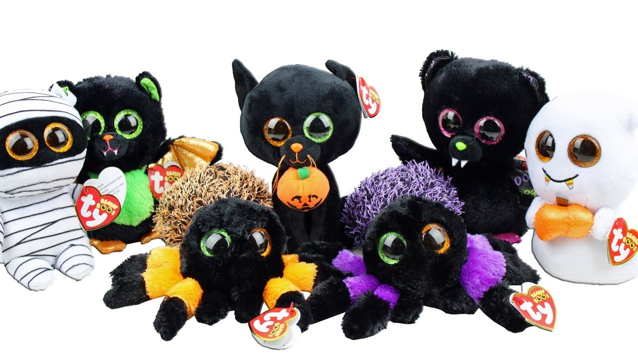 TY Beanie Boos Halloween 2017 Haul Unboxing Toy Review TY Beanie ... c2df58ce069