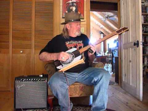 Barkingwood Cigar Box Guitars The Black  and Gray Route 66