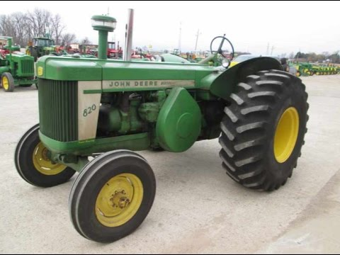 1958 John Deere 820 Tractor with 7,455 hours, Original, Sold on Indiana Auction