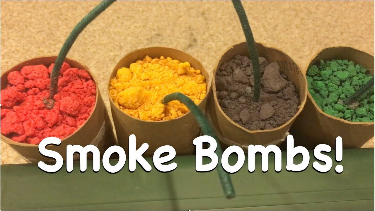 How to Make Colored Smoke Devices with Walmart Supplies - YouTube