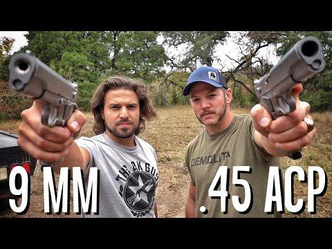 Фаны 9 мм против фанов .45 ACP | Разрушительное ранчо | Перевод Zёбры