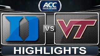 2013 ACC Football Highlights | Duke vs Virginia Tech | ACCDigitalNetwork