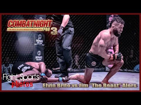 Combat Night Pro 3   Jim The Beast Alers Vs Elvin The Bandido  Brito