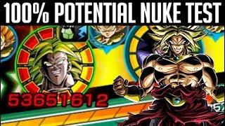 100% LR TRANSFORMING BROLY NUKE TEST | Dragon Ball Z Dokkan Battle