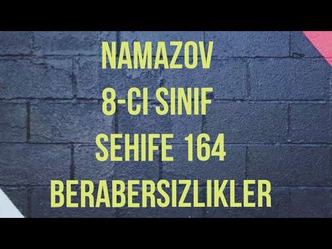8-ci sinif Namazov Riyaziyyatdan hazırlıq dərsi 😊