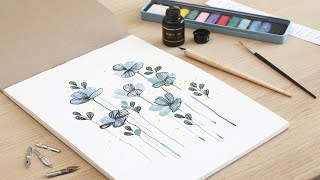 Decorate paintings with a fountain pen - DIY by Søstrene Grene