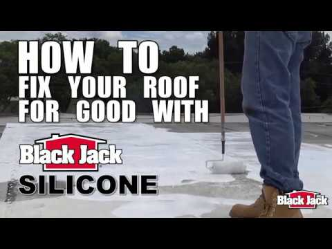 How To Apply Silicone Roof Coatings Using Black Jack® Silicone