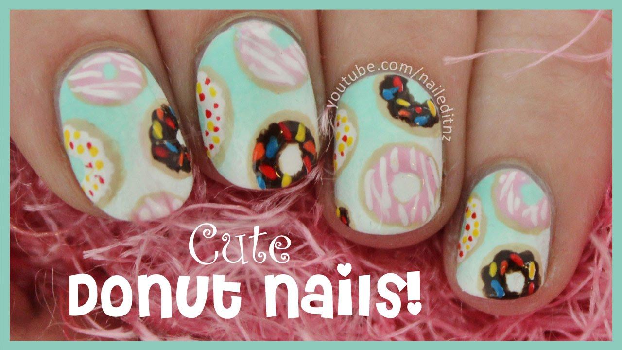 Donut Nail Art! - YouTube
